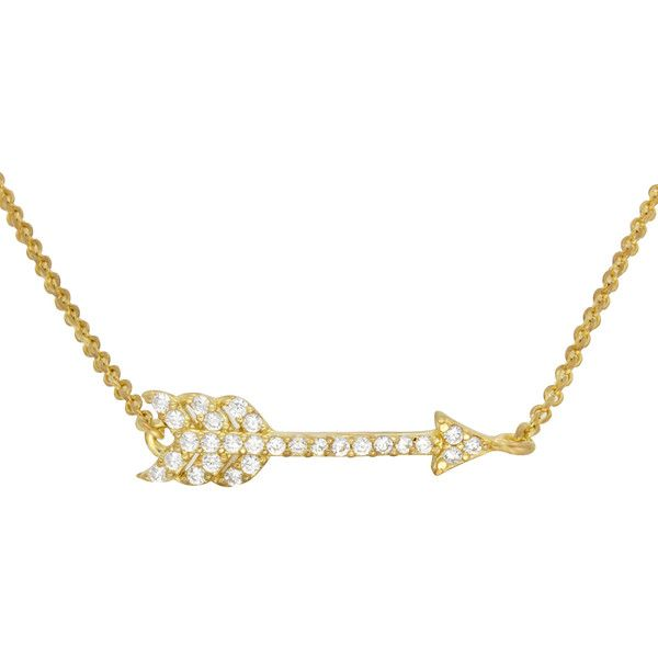 Sterling Essentials 14k Rose Gold Plated Silver Arrow CZ Bracelet (€12) ❤ liked on Polyvore featuring jewelry, bracelets, silver, 14k jewelry, cz jewelry, 14 karat gold jewelry, rose jewellery and cz jewellery