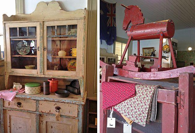 Rural antique Australian furniture, Stalking Cat, Woodend.