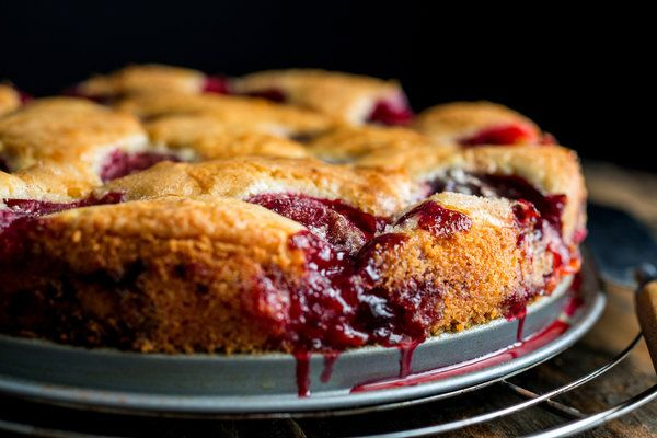 "Plum Torte by nytimes: The Times published Marian Burros's recipe for Plum Torte every September from 1982 until 1989, when the editors determined that enough was enough. The recipe was to be printed for the last time that year. ""To counter anticipated protests,"" Ms. Burros wrote a few years later, ""the recipe was printed in larger type than usual with a broken-line border around it to encourage clipping."" (Photo: Andrew Scrivani for The New York Times) #Torte #Plum"