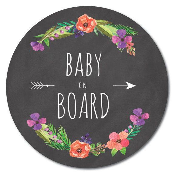 Baby on Board sticker / Bébé à bord autocollant par BBabyOnBoard
