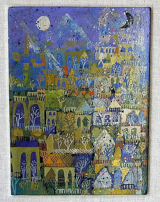 Henry Faulkner Abstract Oil