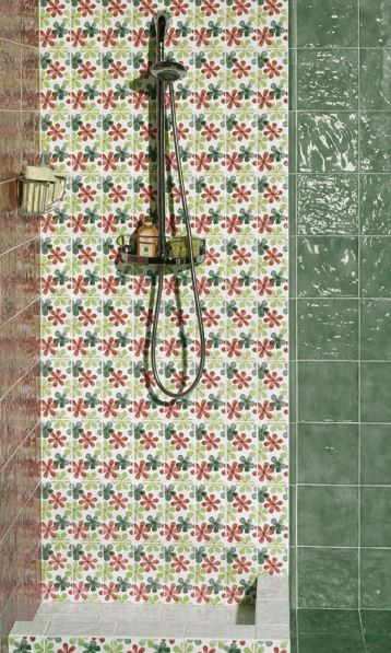 Offerta #Mainzu #Vitta Menta Cenefa Fiore decoro 10x20 cm | #Ceramica #decorati #10x20 | su #casaebagno.it a 2 Euro/mq | #piastrelle #ceramica #pavimento #rivestimento #bagno #cucina #esterno