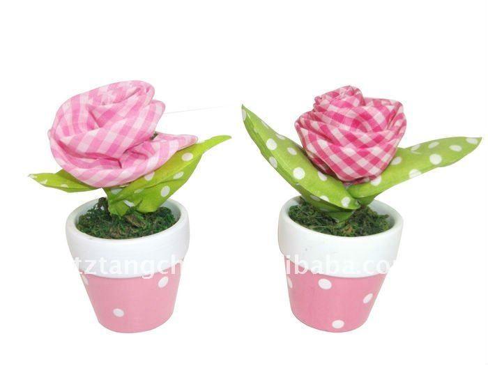 13 best flores en tela images on pinterest fabric for Plantas decorativas