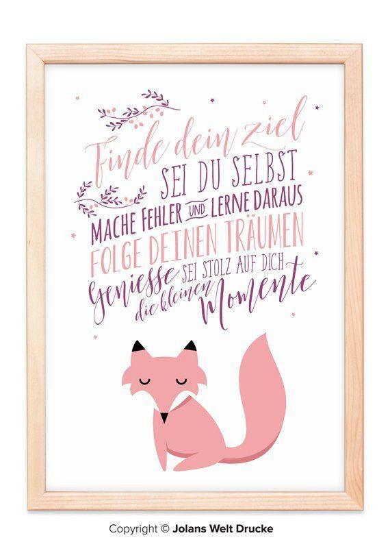 FUCHS von Jolanswelt Kunstdrucke, Poster, Geschenk, Deko ...