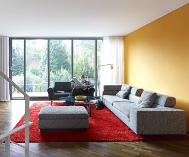 Wohnzimmer In Architektenhusern Mit Meerblick Norwegen