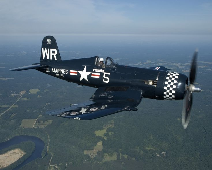Chance Vought F4U-5 Corsair. I've seen this particular plane in person several times - always impressive.