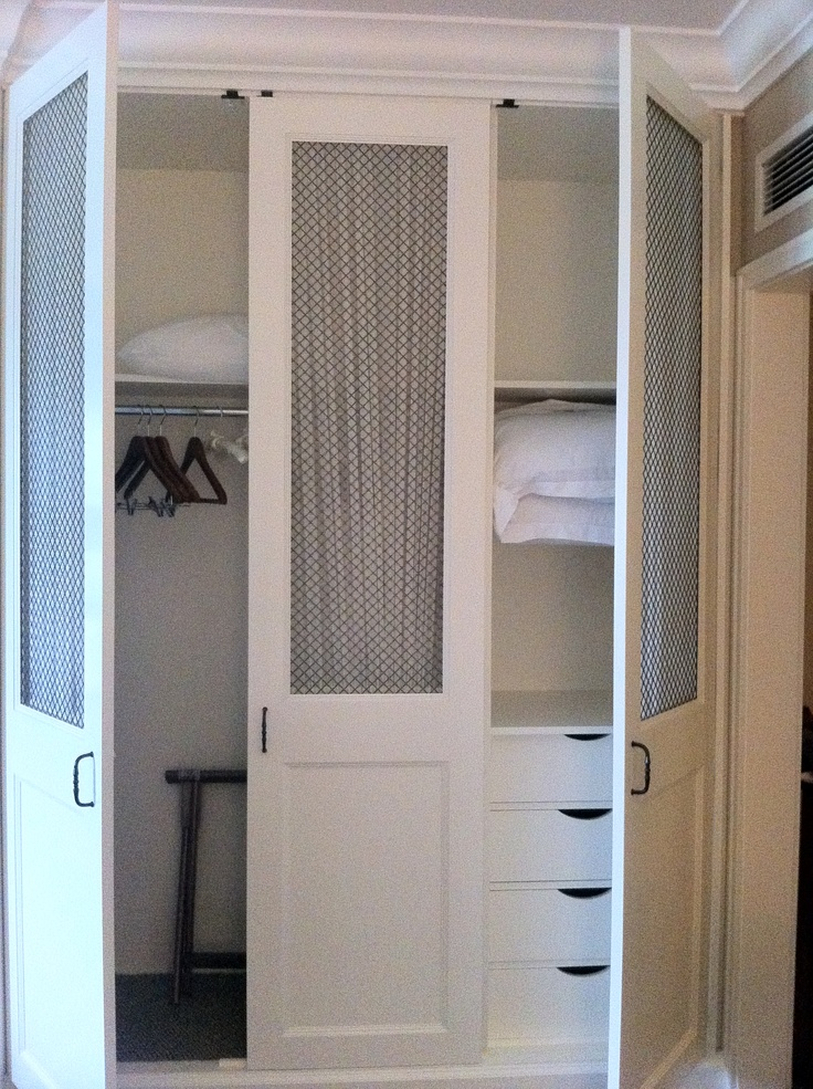 Guest Room Closet Redo? Love The Floor To Ceiling Doors, Grate Styling, And