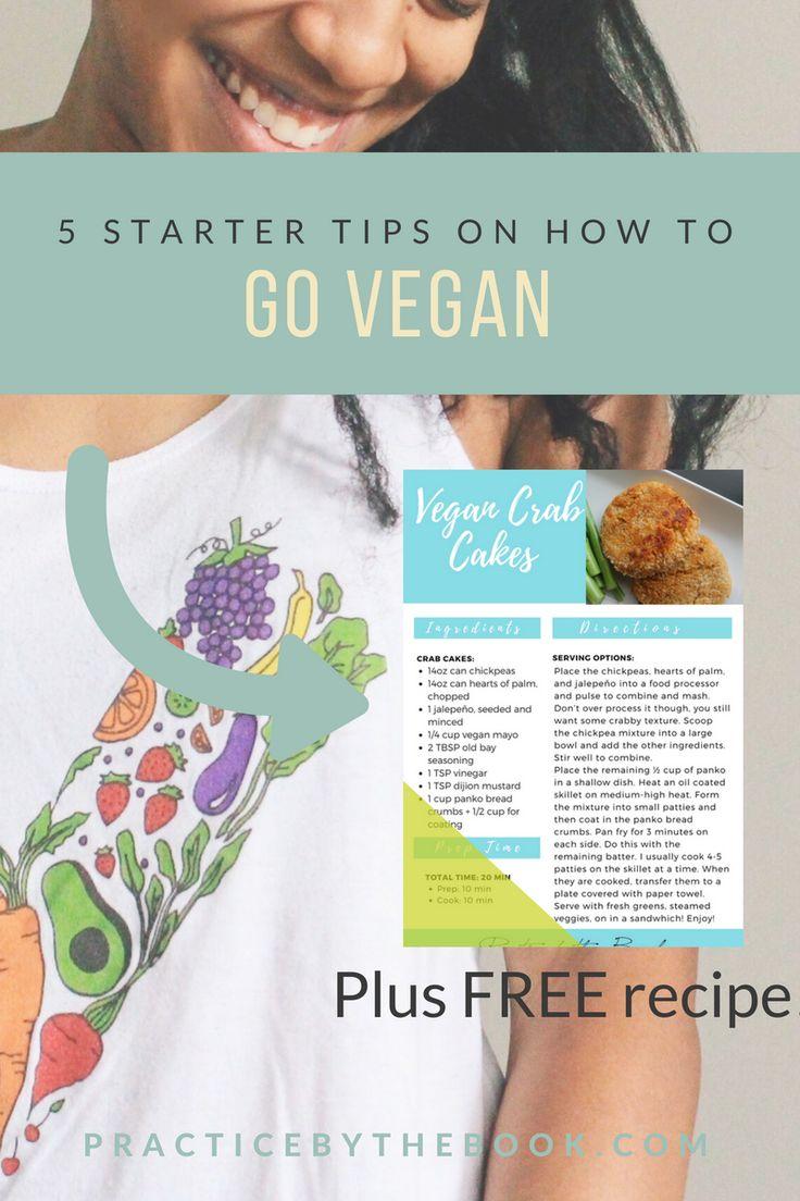 Vegan Starter Tips + Free Recipe for Crab Cakes!  #vegan #plantbased #govegan