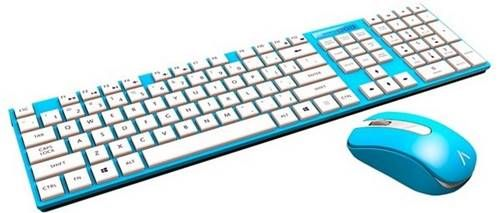 Kit de teclado e mouse wireless Azio HUE 2