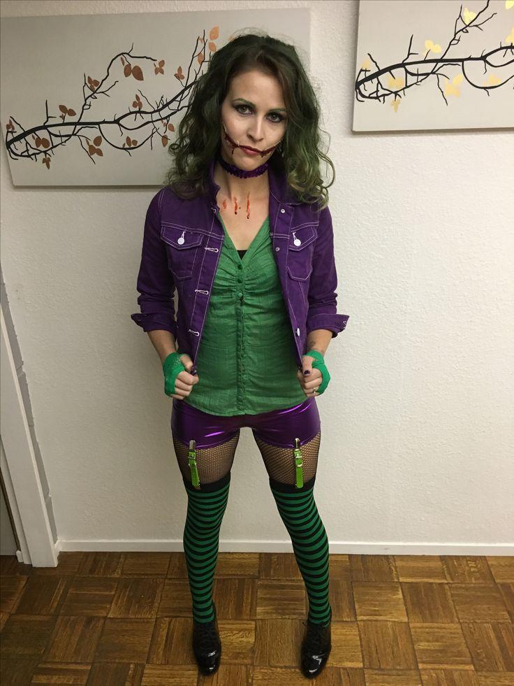 Female joker costume diy #joker #femalejoker #diy