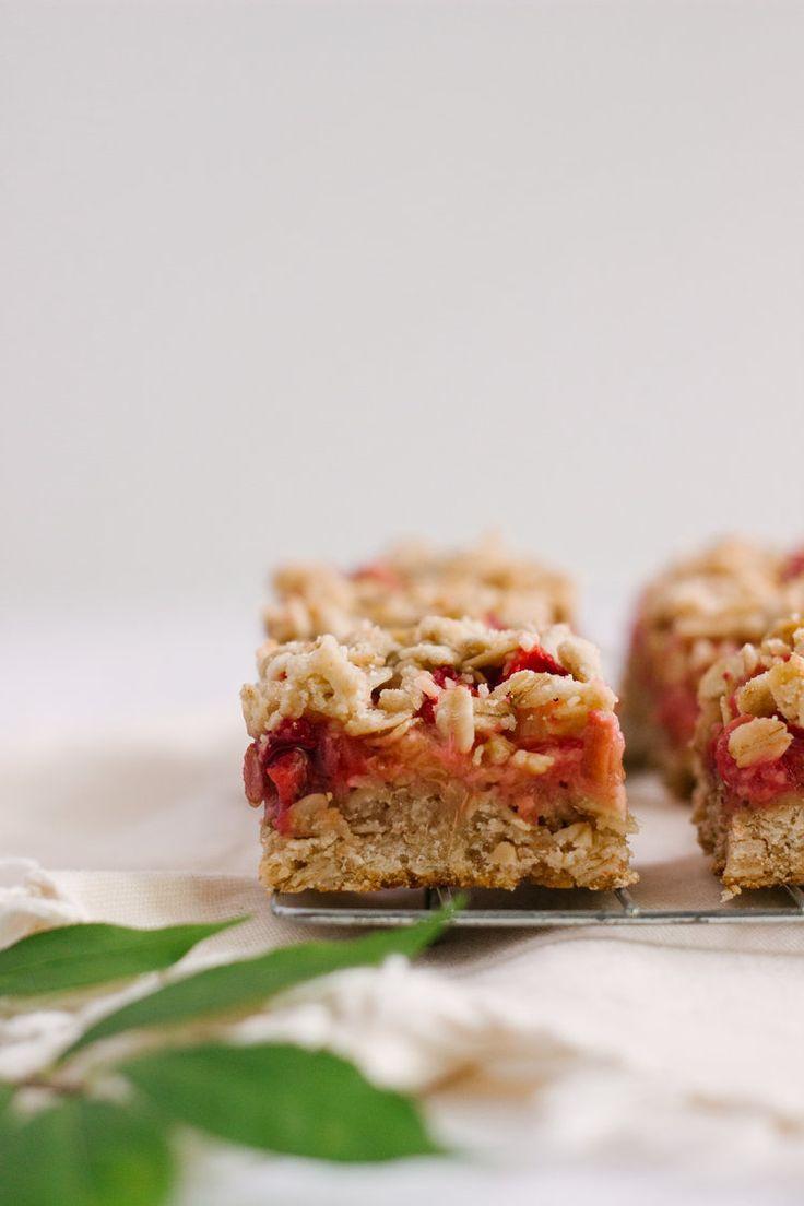 Strawberry Rhubarb Bars -- To Salt & See.