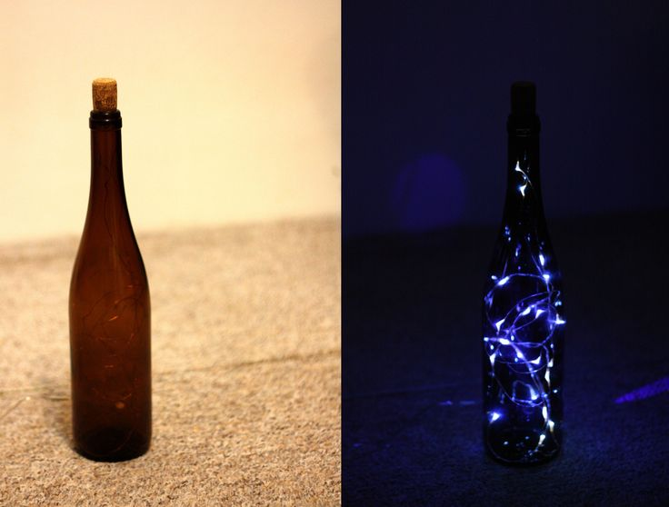 another recycled wine bottle