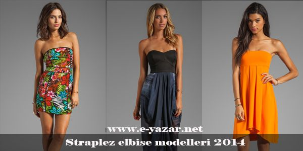 nice Bu sezonun trendi Straplez elbiseler - Straplez Elbise