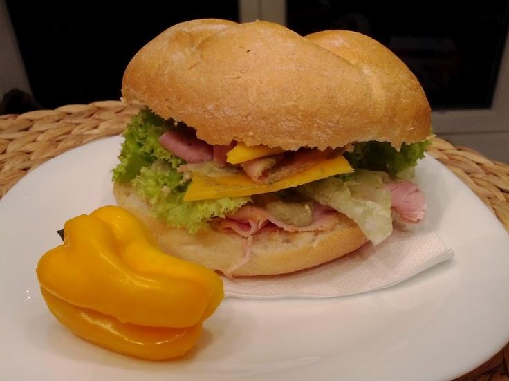 sandwich (pork, roastbeef, cheddar, avocado, dijon, salad) w/ habanero