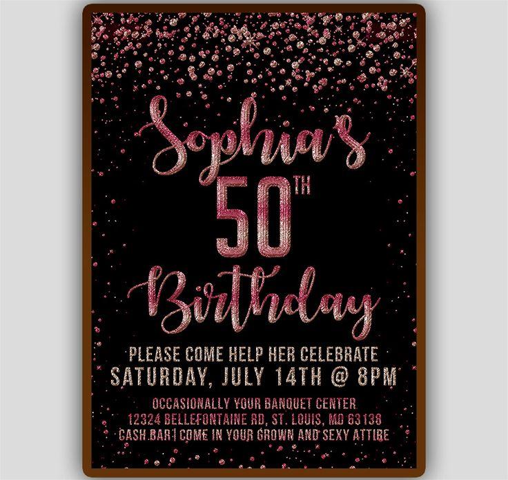 50th Birthday Invitation Template Birthday invitation