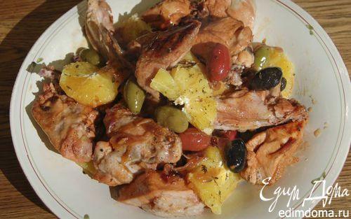 Курица с апельсинами и оливками  | Кулинарные рецепты от «Едим дома!»