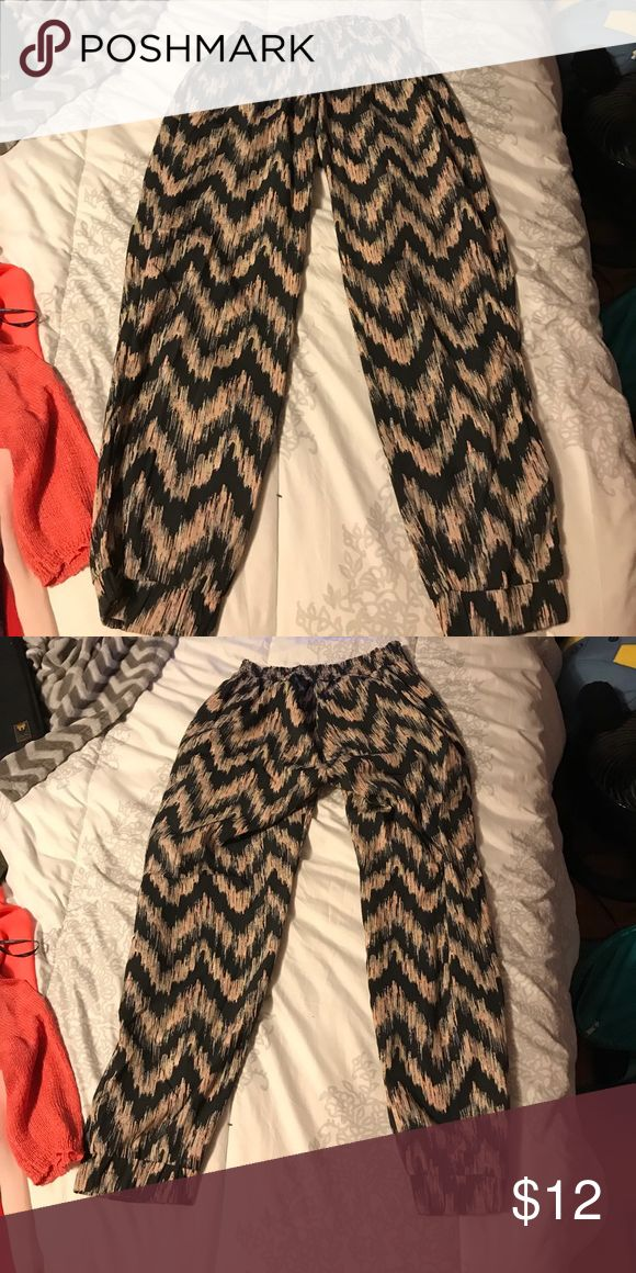 Medium multicolored MC Hammer type pants Never worn. Great condition. American Eagle Outfitters Pants Ankle & Cropped