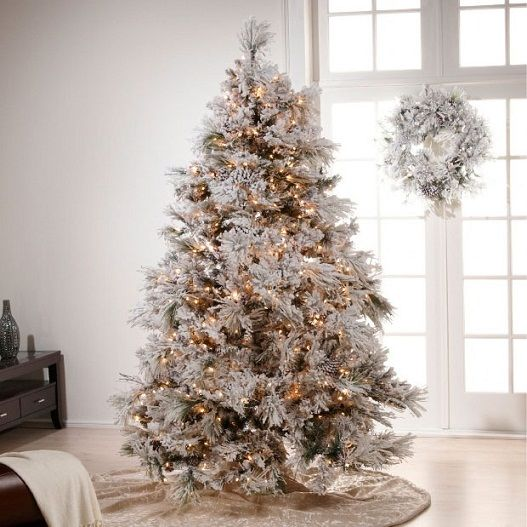 Charmant White Gold Christmas Tree Decorating Ideas