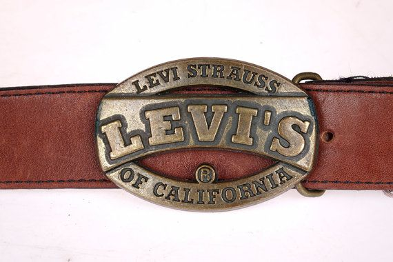 Vintage Levi Strauss Buckle Belt  Levi's Heavy by The1608shop