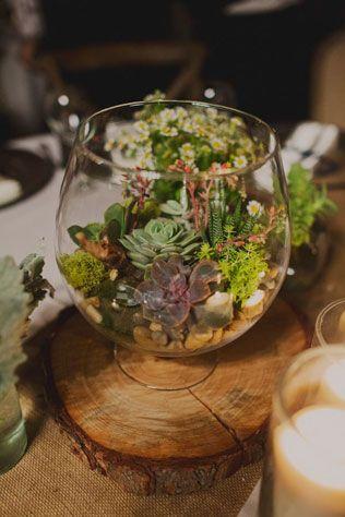 Свадебные тренды 2015 - эко-стиль, ваза с цветами