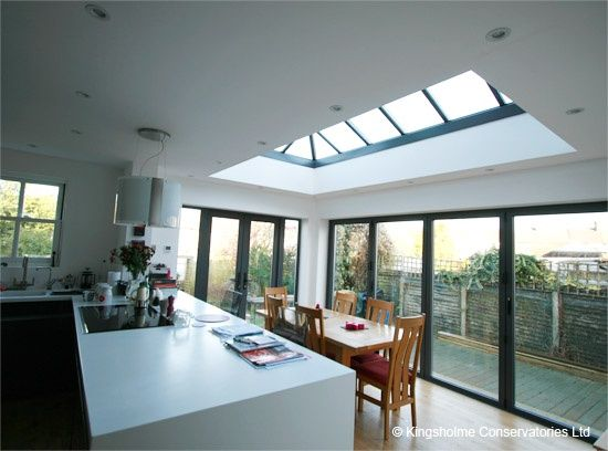 An orangery extension to your kitchen can provide light and space to entertain in.