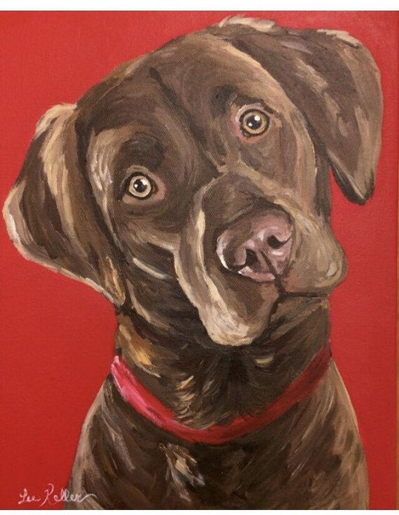 Dog Painting, Pet Painting, Custom dog or cat painting.  This listing is for a custom painting of one pet using acrylic paint on museum quality stretched canvas. Canvas frame is 7/8 deep.  My two biggest passions in life are animals and painting. I know the love pet parents have for their pets. I will take great care and great pride in painting your sweet pet. I have done over 300 pet paintings! and love every one I do!  You have several options with size and detail. These include: 1. He...