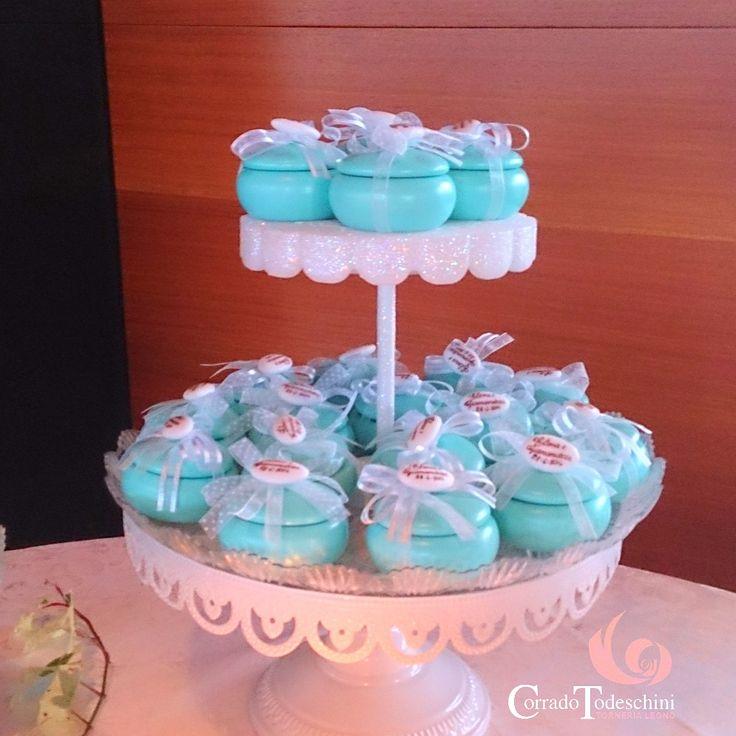 bomboniere in legno color Tiffany realizzate per il Matrimonio di Elena e Gianandrea #truelove #love #style #bomboniere #legno #decorazioni #todeschini#matrimonio #ideematrimonio