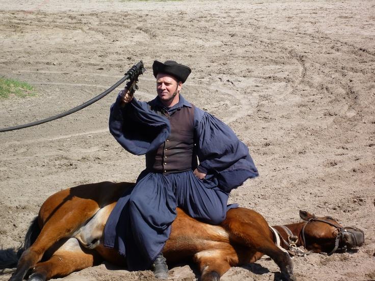 Horseman with whip at Varga Tanya, Kunpuszta Major, Hungary
