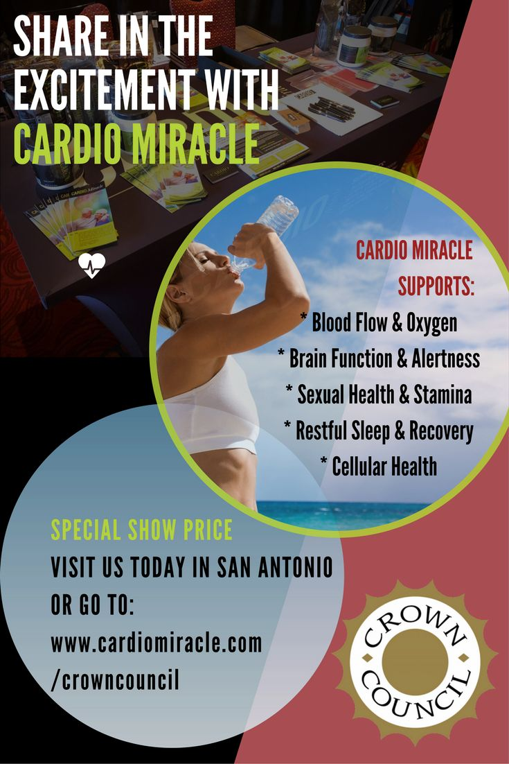 We are so grateful to be at the #crowncouncil #23rdannualevent this weekend learning from top dental experts in the country and gaining new knowledge to share with our loyal Cardio Miracle Family! Click the picture for a SPECIAL SHOW PRICE DISCOUNT!