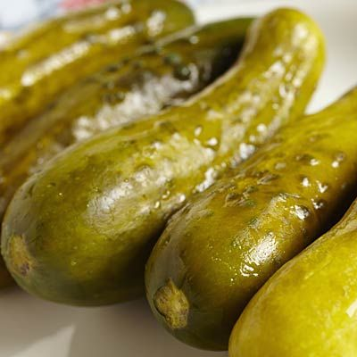 Fermented food are awesome cravings crusher because of their short-chain fatty acids.  So pick up those pickles! #fermented #appetite | Health.com