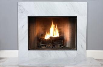 Buy a full size Bianco Venatino White Marble fireplace surround facing kit for an impressive and professional designer marble facing. Similar to Cararra.