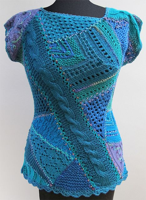 Crazy Quilt Knitting front top