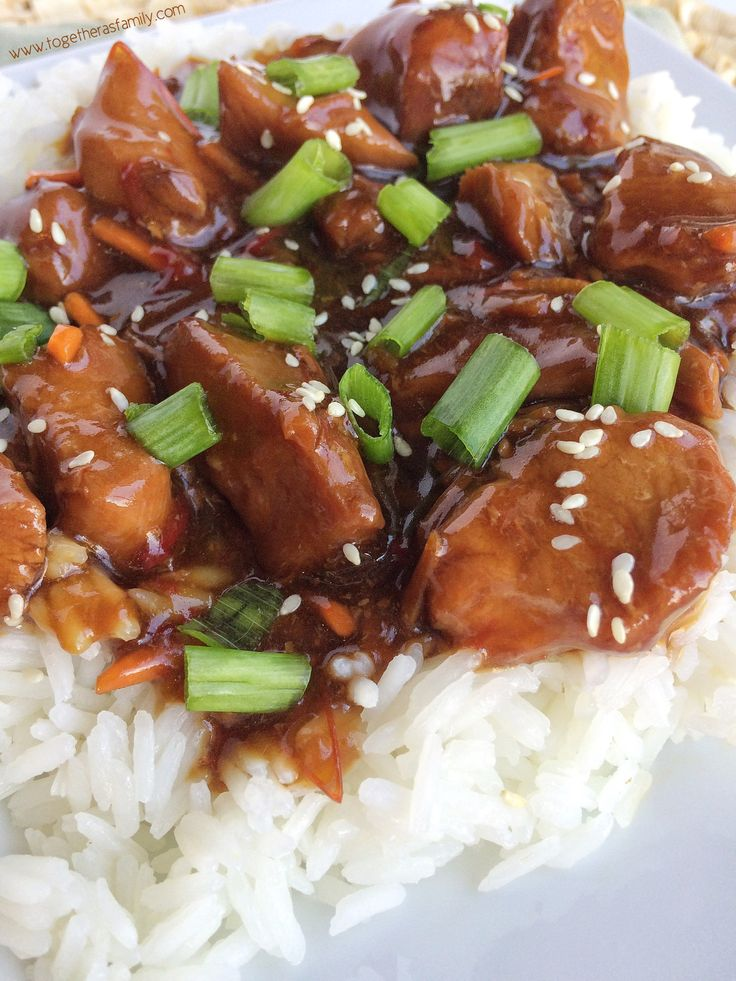 Slow Cooker Mongolian Chicken | Together as Family