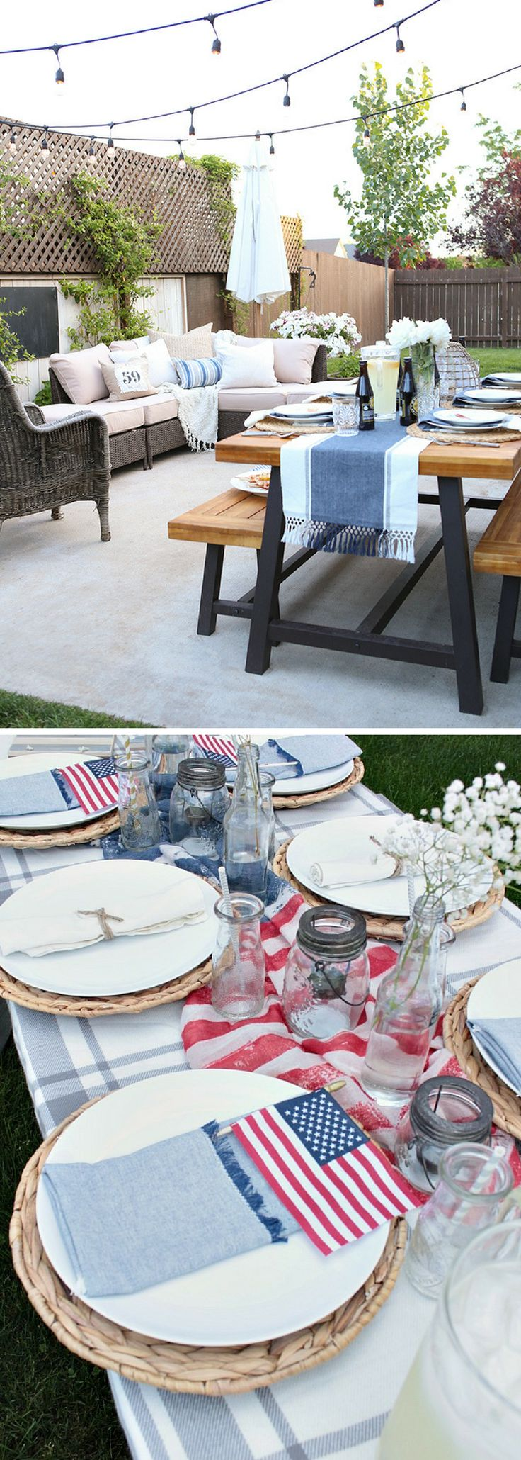 Elevate your summer cookout with these 15 easy, yet classy decor and presentation ideas! Perfect for the 4th of July.
