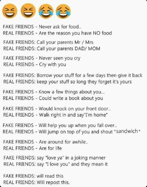 Real friends would repost this
