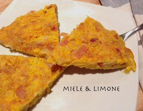 Frittata di patate speck e parmigiano - ricetta facile