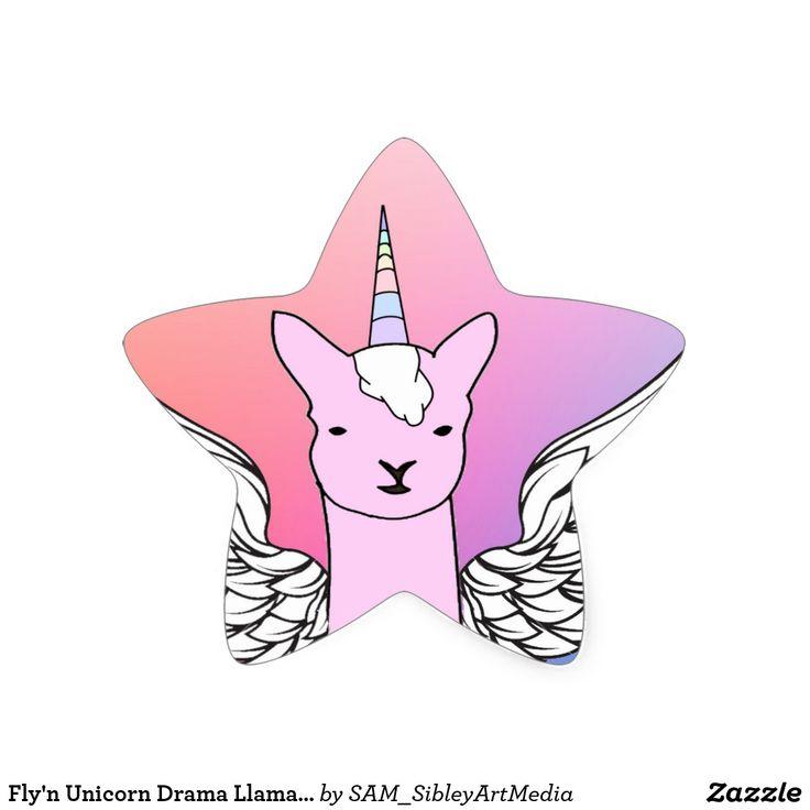 Fly'n Unicorn Drama Llama girls star stickers