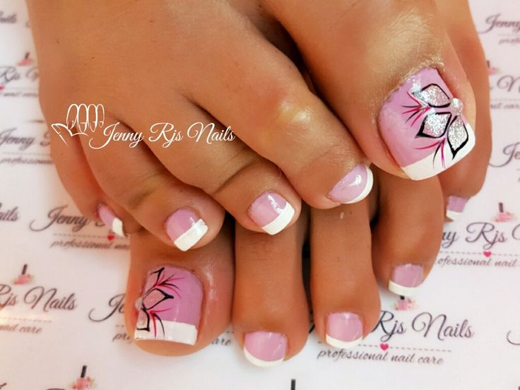 #pedicure #colorespasteles #french