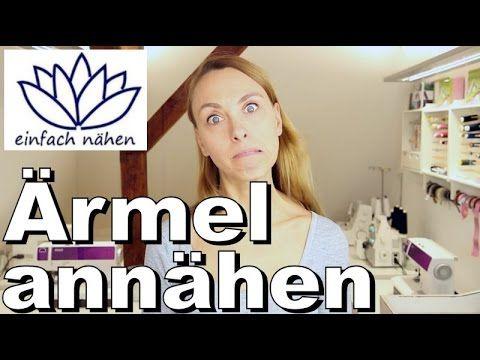 gewusst wie: Ärmelfutter an Außenstoff nähen - mit Anna von einfach nähen - YouTube