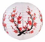 "16"" Japanese Plum Tree II Paper Lantern - 2.32"