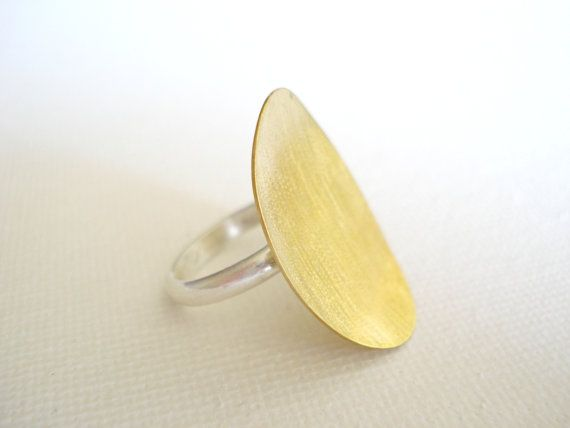 Mixed metal brass and sterling silver handmade by PenelopeStudio, €20.00