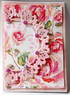 Blankina creations: With love english roses dp Marianne Design