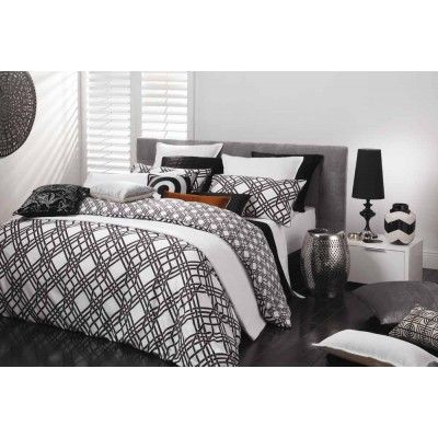 Pagoda Black Quilt Cover Set by Florence Broadhurst
