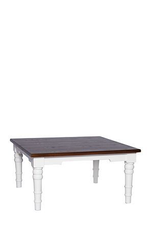 """Our Classic two tone Madison range is perfect for your classic lifestyle. The veneered top and solid wood turned legs eccentuate its timeless look.<div class=""""pdpDescContent""""><BR /><b class=""""pdpDesc"""">Dimensions:</b><BR />L90xW90xH45 cm<BR /><BR /><div><span class=""""pdpDescCollapsible expand"""" title=""""Expand Cleaning and Care"""">Cleaning and Care</span><div class=""""pdpDescContent"""" style=""""display:none;""""><ul><li> Dust frequently with a clean soft cloth </li><li> Polish the wood surfaces on a regular…"""