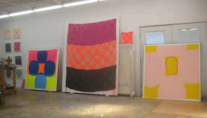 Judy Ledgerwood-studio view