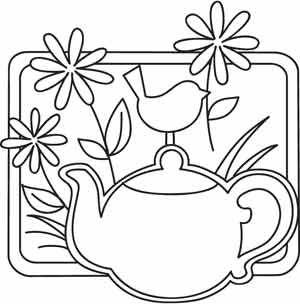 Springtime Tea design (UTZH1276) from UrbanThreads.com