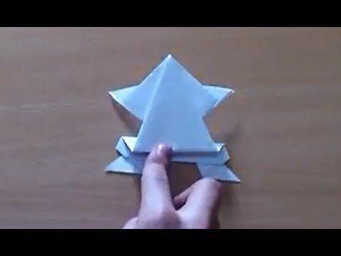Faire une Grenouille en origami - Grenouille sauteuse en papier - YouTube