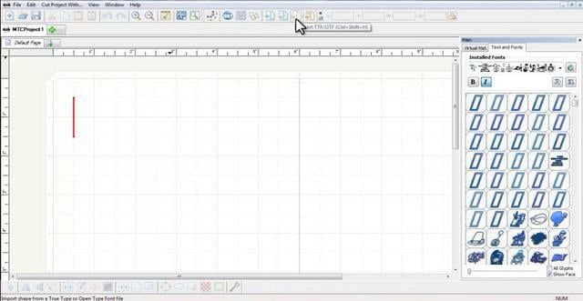 Opening a TTF font file to use in Make The Cut.