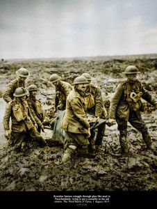 Stretcher bearers at Passchendaele   #worldwar1