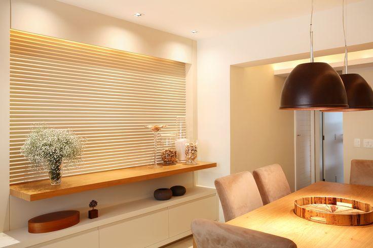 sala de jantar com mesa saindo da parede e aparador - Pesquisa Google